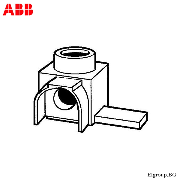 КЛЕМА 90⁰ ЗА КАБЕЛ 6-25mm², ABB, AST25-15QS