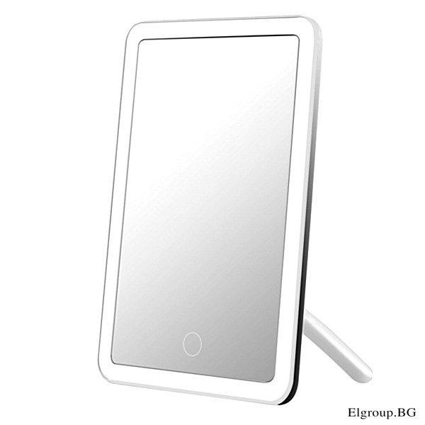 Димируемо настолно LED огледало, 4W, 5500K, 55lm, 3.7V Li-battery