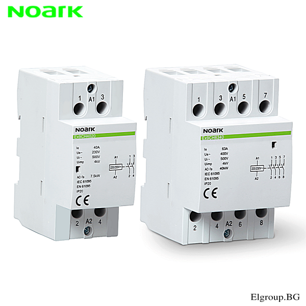 Инсталационни контактори Noark, Ex9CH, 25-40-63A, бобина 230V/AC