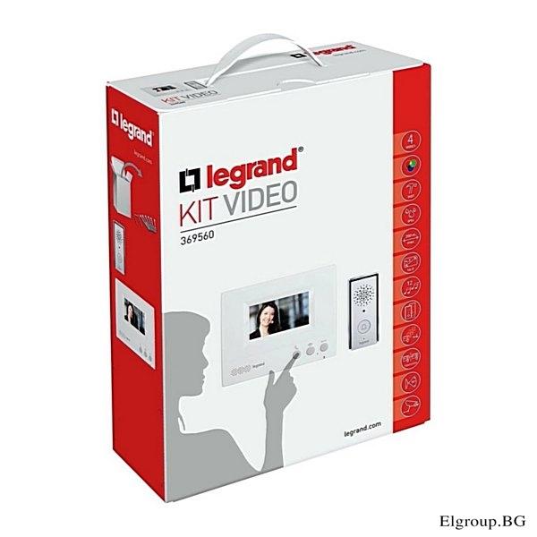 """КОМПЛЕКТ ВИДЕОДОМОФОН LEGRAND, LCD ЕКРАН 4.3"""", LG-369560"""