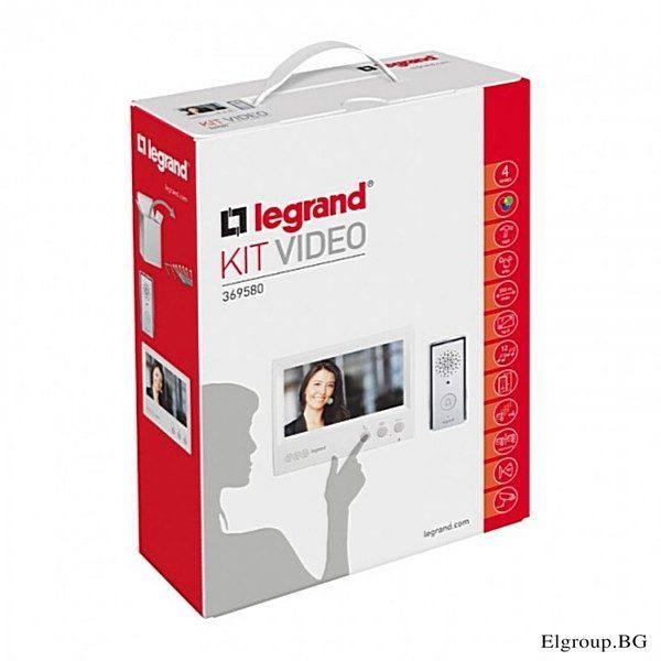 """КОМПЛЕКТ ВИДЕОДОМОФОН LEGRAND, LCD ЕКРАН 7"""", LG-369580"""