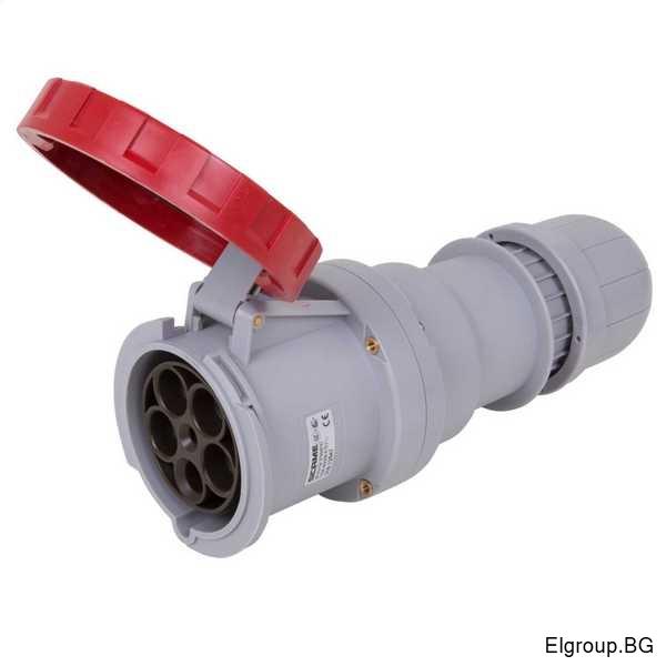 Трифазен евро контакт 125А, 3P+N+E, IP67, SCAME Optima 318.12547