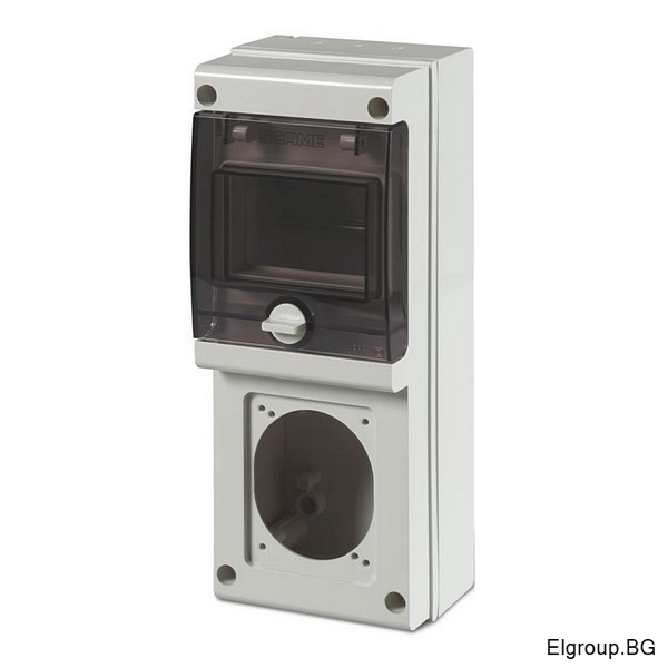 Табло 4-DIN, 1-контакт 16A/32A, Scame Block 1 632.1500-000