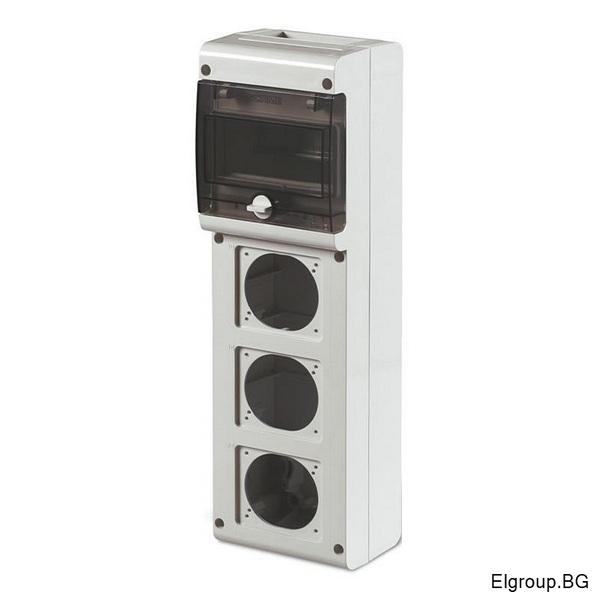 Табло 6-DIN, 3-контакта 16A/32A, Scame Block 3 632.3500-000