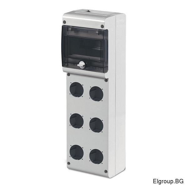 Табло 6-DIN, 6-контакта ШУКО, Scame Block 3 632.3530-000