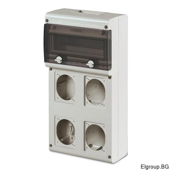 Табло 11-DIN, 4-контакта 16A/32A, Scame Block 4 632.4500-000