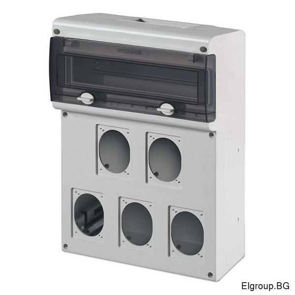 Табло 14-DIN, 5-контакта 16A/32A, Scame Block 5 632.5500-000