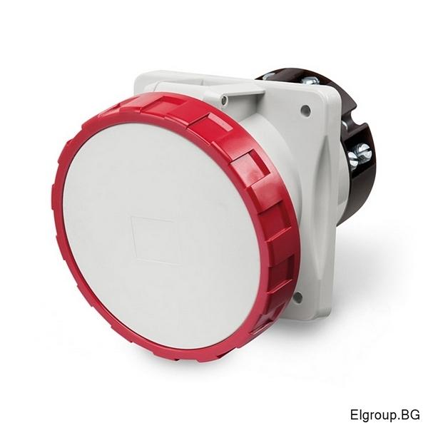 Промишлен контакт 63А, 3P+N+E 6h IP67 100×110mm, SCAME 418.6367