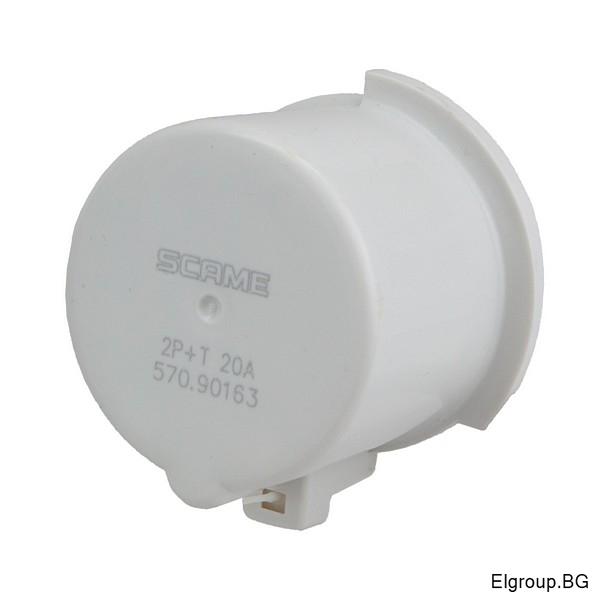Капачка за промишлен щепсел 16А, 2P+E, IP67, Scame 570.90163
