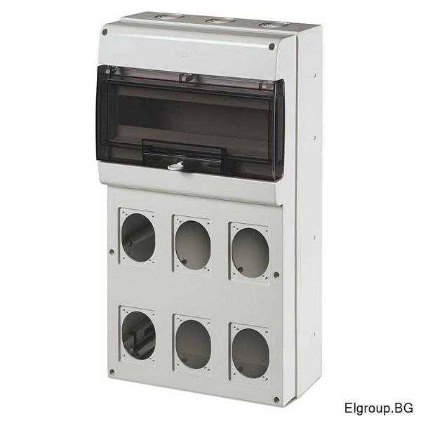 Табло 16-DIN, 6-контакта 16A/32A, Scame Domino 672.5616
