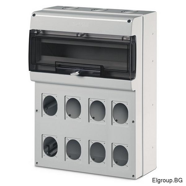 Табло 24-DIN, 8-контакта 16A/32A, Scame Domino 672.5822