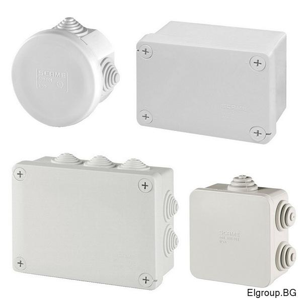 Влаго и прахозащитени клемни кутии с UV защита, Scame Cubox IP55