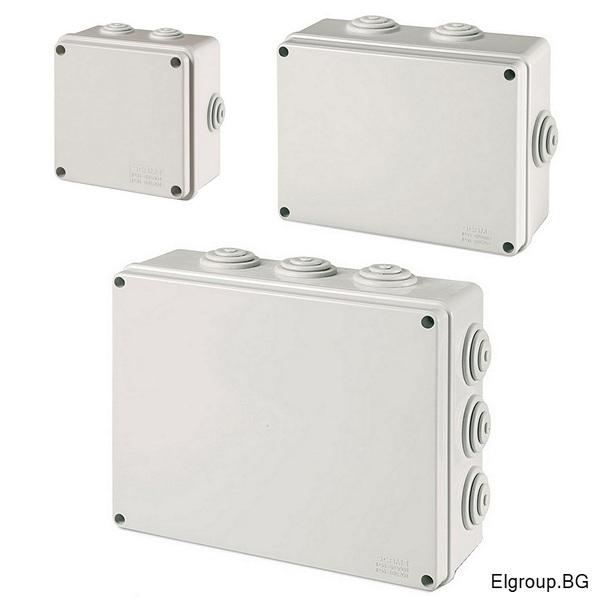 Клемни кутии за външен монтаж с гумени тапи, Scame Scabox IP55