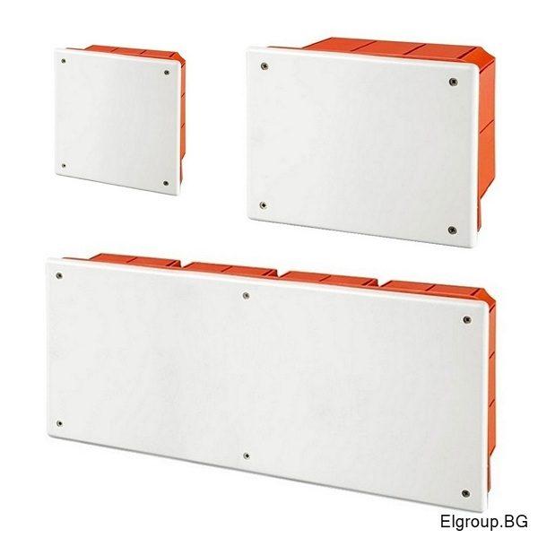 Разклонителни кутии за вграждане в мазилка с капак, Scame Wbox IP40