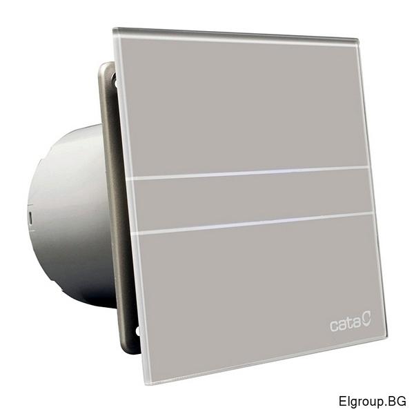 Вентилатор Ф100мм, 115м3/ч, 8W, 31dB, Cata E-100 GST Timer, СИВ