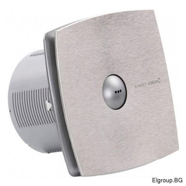 Вентилатор Ф150мм, 320м3/ч, 25W, 42dB, Cata X-Mart 15 MATIC INOX