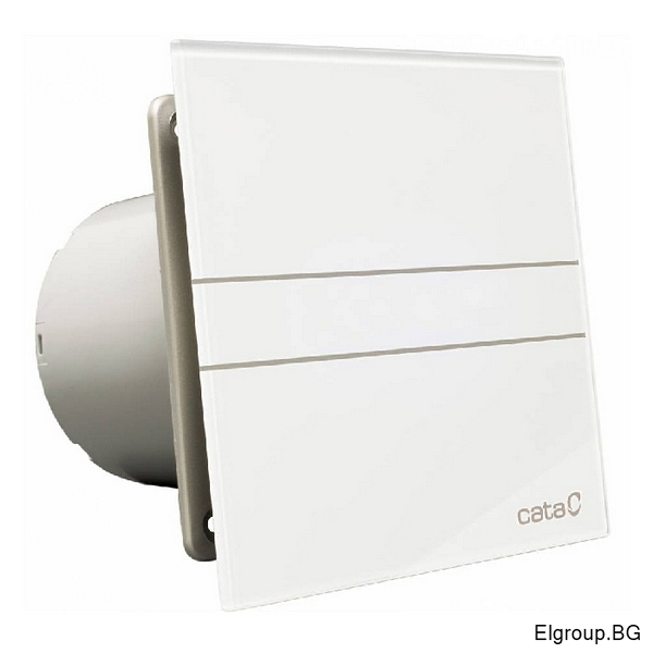 Вентилатор Ф100мм, 115м3/ч, 8W, 31dB, Cata E-100 GT Timer, БЯЛ