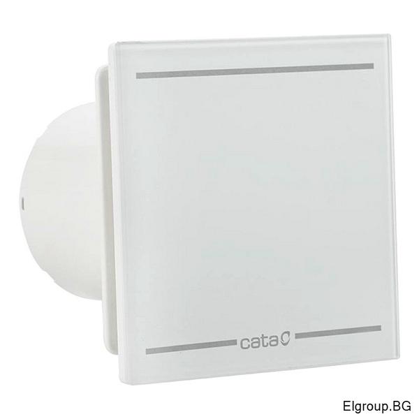 Вентилатор Ф100мм, 115м3/ч, 8W, 31dB, Cata E-100 GL, LED Light, БЯЛ