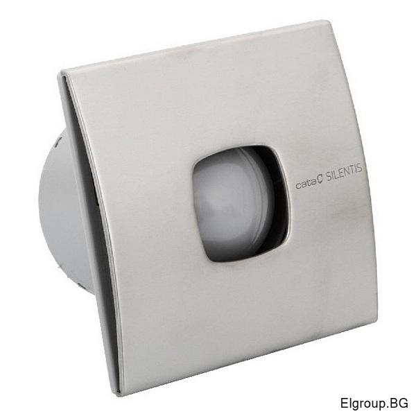 Вентилатор Ф100мм, 90м3/ч, 12W, 30dB, Cata SILENTIS LN 10, INOX