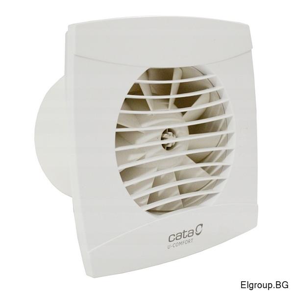 Вентилатор Ф100мм, 110м3/ч, 8W, 26dB, Cata UC-10 Comfort, БЯЛ