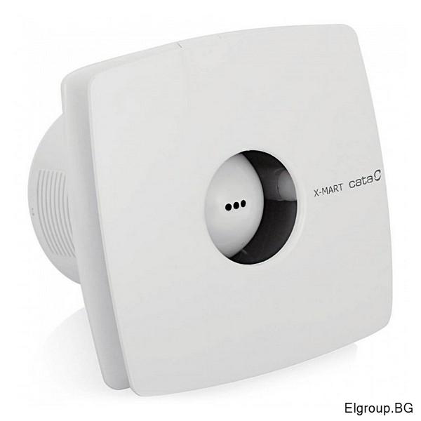 Вентилатор Ф100мм, 98м3/ч, 15W, 38dB, Cata X-Mart 10 TIMER, БЯЛ
