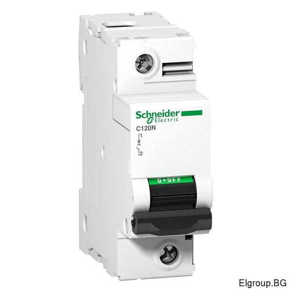 Автоматичен прекъсвач Acti 9, C120N, 1P 80A÷100A, крива-C, 10kA, Schneider Electric