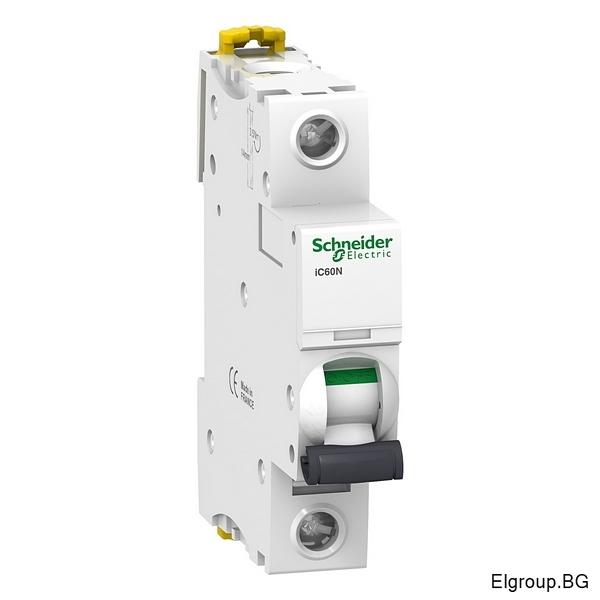 Автоматичен прекъсвач Acti 9, iC60N, 1P 1A÷63A, крива-C, 6kA, Schneider Electric