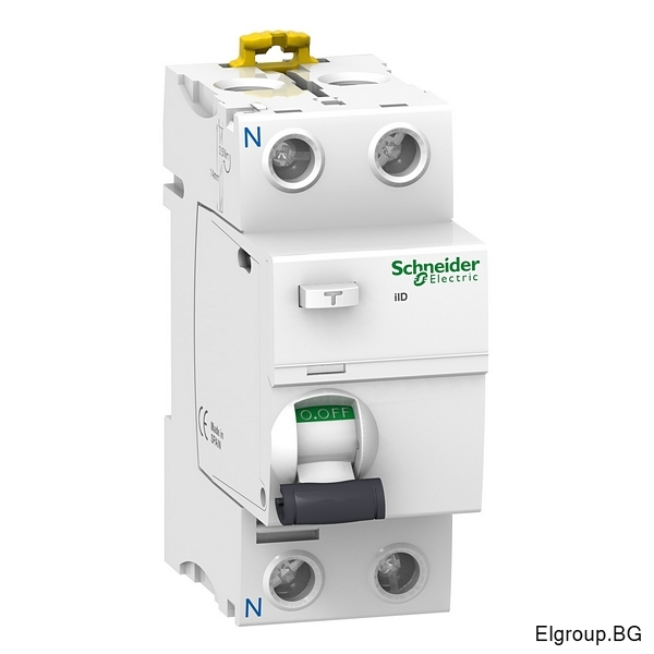 Дефектнотокова защита Acti 9, iID, 2P 25A÷63A, 300mA, тип-AC, 10kA, Schneider Electric