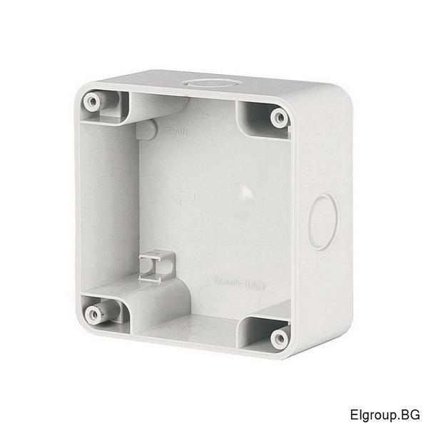 Единична кутия M95 (95x95mm) за открит монтаж, IP66, Scame Protecta 137.101