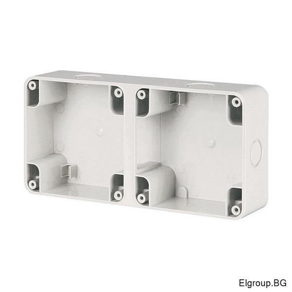 Двойна кутия M95x2 (195x95mm) за открит монтаж, IP66, Scame Protecta 137.102
