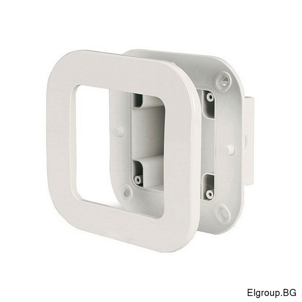 Единична конзола M95 (95x95mm) за скрит монтаж с рамка, Scame Protecta 137.121