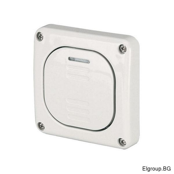 Еднополюсен ключ 10А, скрит монтаж IP66, M95, Scame 137.3011 Protecta, СИВ